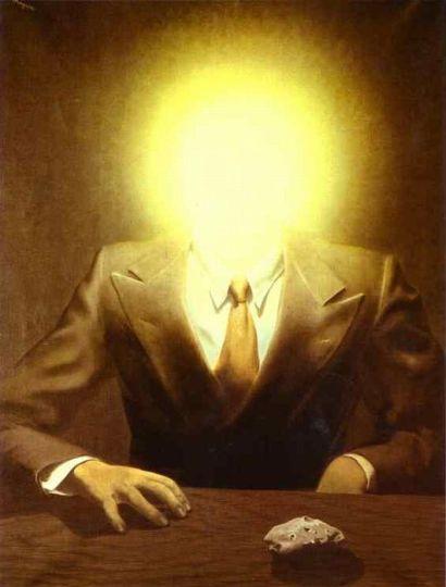 The Pleasure Principle: Portrait Of Edward James (1937) - René Magritte