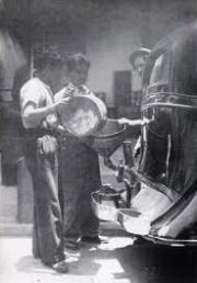 Carestia de gasolina por huelga 1930's